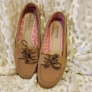 Sperry Tan Audrey Boat Shoes